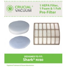 Shark NV80 UV420 HEPA Filter  Foam & Felt Filter  Part # XHF80 & XFF80 - B00C6ZFJVC
