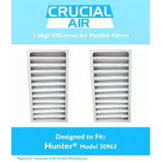 2 Hunter 30710  30711 & 30730 Air Purifier Filters  Part # 30963  Designed & Engineered by Crucial Air - B00HPZ9L2Q