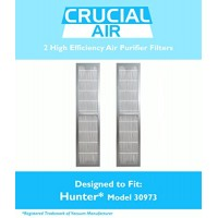2 Hunter 30973 Air Purifier Filters Fit 30890 & 30895 Models  Designed & Engineered by Crucial Air - B00M8C6UPM