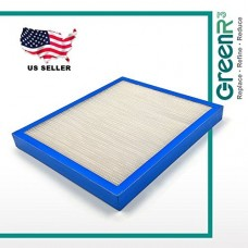 GreenR3 1-PACK Air Filter FOR HoMedics Purifiers AF-10FL fits AR-10 AR-75 AT-75 AR10 AR75 AT75 PN Model Series Parts Accessories Replacement Replenishment and more - B079SX1WRZ