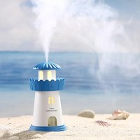 Coerni Mini 150ml Cute Lighthouse Portable USB LED Glowing Humidifier for Car  Office  Home (Blue) - B07634DCNX
