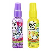 Treasue Isle Set of 2 Poo Be Gone Toilet Spray 1.85oz - Before You Go Toilet Bathroom Deodorizer - Features Fresh Citrus Scent and Lavender Scent! - B07FT817JT
