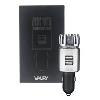 Valiry Car Air Purifier: Portable Air Ionizer For Vehicles- Removes Smoke  Bad Odors  Dust  Pollen  Pet Smell- Dual USB Port Air Freshener- Plug In Air Cleaner With LED Light - B07B47QM9D