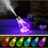 Air Humidifier LED Night Light USB Portable Ultrasonic Humidifier Diffuser-Fristee 400ml With 7 LEDs Lights Colors-Silver - B01N2JI6EI