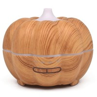 SoadSight Yrd Tech Pumpkin Wood Oil Aromatherapy Machine Humidifier Ultrasonic Home Creative Atmosphere Aromatherapy Humidifier (Khaki) - B07F2FTT21
