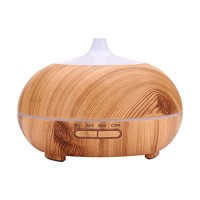VTurboWay 300ml Aroma Diffuser  6 Hour Capacity 7 Soothing LED Light Cool Mist Room Humidifier(Color:Wood Grain) - B07F8NXPGM