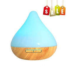 Wisdorigin Essential Oil Diffuser 300ml Aroma Essential Oil Cool Mist Humidifier Waterless Auto Shut-Off 7 Color LED Lights Changing Home Office Bedroom Yoga Spa - B074L2ST9J