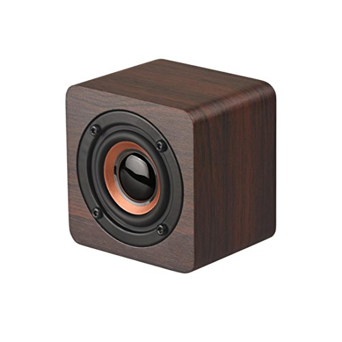 Wooden Wood Subwoofer Wireless BT4.2 Speaker HIFI Stereo Bass Speaker  Portable Super Bass Wireless Bluetooth Speaker Outdoor & Indoor (C) - B07FKZZ3LX
