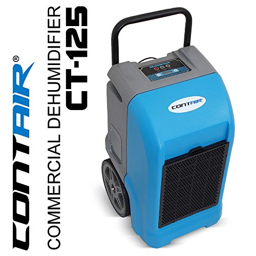 Contair® CT-125 ETL Certified Commercial Industrial Grade Portable Dehumidifier Humidity Controller Blue - B01HQTNVMG