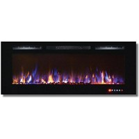 Bombay 50 Inch Crystal Recessed Touch Screen Multi-Color Wall Mounted Electric Fireplace - B014LR1KPQ