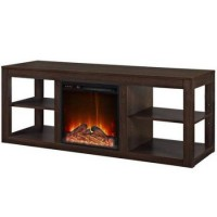 "By Home Design Electric Fireplace  Media/TV Stand  up to 65""  Espresso - B078QFB7GH"