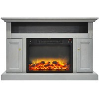 Cambridge CAM5021-2GRYLG2 Sorrento Electric Fireplace with an Enhanced Log Display and 47 in. Entertainment Stand in Gray - B075QHHFKC