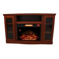 Comfort Glow QEF7530RKD Abington Media Center with Infrared Quartz Electric Fireplace - B072W7X4DN