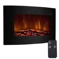 "Gracelove 35"" XL Large 1500W Adjustable Electric Wall Mount Fireplace Heater W/Remote New Realistic Logs and Embers ! 2in1 Heater & Decoration - B01M02DIW1"