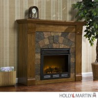 Holly & Martin Underwood Electric Fireplace Oak - B00917UNI2