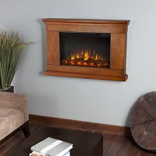 Real Flame 760E-P Wall-Hung Electric Fireplace  Pecan  Small - B00G7JCX9Y