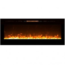 "Regal Flame Astoria 60"" Crystal Built-in Ventless Recessed Wall Mounted Electric Fireplace Better than Wood Fireplaces  Gas Logs  Inserts  Log Sets  Gas  Space Heaters  Propane - B01MSBZX43"