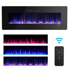 "TANGKULA 36"" Recessed Electric Fireplace  in-Wall& Wall Mounted & Standing Electric Heater  Remote Control  Touch Screen  Adjustable Flame Speed  750-1500W (36"") - B07FP73BJT"