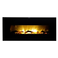 Warm House VWWF-10306 Valencia Widescreen Wall-Mounted Electric Fireplace with Remote Control - B008KY0M9M