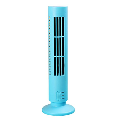 JiaQi Cooling Tower Fan Mini Air Conditioner Fan Usb Portable Air Conditioner Desktop Office Home Personal Space-Blue 10x33cm(4x13inch) - B07FXR9KWQ