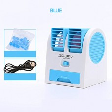 JiaQi Mini Air Conditioning Portable Air Cooler Cooling Small Fan Usb Office Humidifier Hostel-Blue 12x11x15cm(5x4x6inch) - B07FWYMLHG