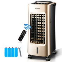 JiaQi Personal Air Cooler Air Conditioner Fan Portable Office Air Conditioner Cooling Humidification-Golden - B07G65C7WJ