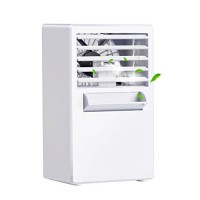 KIBER Mini Personal Air Conditioner Fan Portable Cooler Misting Spray Desktop Table Cooling Fan Humidifier Bladeless Quiet for Room  Bedroom  Office  Dorm  Home  Outdoor (White) - B07DJ9YY2N