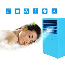 Portable Multi Functional Fan & Air Cinditioner  Elevin(TM) Portable Air Conditioner Fan Mini Evaporative Air Circulator Cooler Humidifier (Blue) - B07F8KVKR5