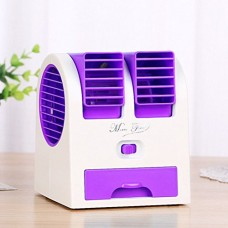 Simply Silver Air Conditioner Fan Mini Small Portable Ac Personal Handheld Cool Cold Summer - B078SJJ7KK