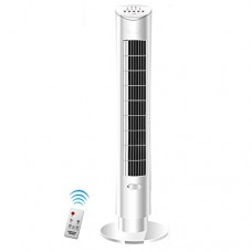Vertical floor fan Air conditioner fan Household Timing Fragrance Leafless Silent fan Intelligent remote control Evaporative coolers-White - B07DXZDZSH
