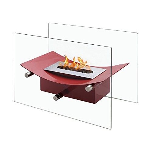 Ignis Verona - Ventless Tabletop Bio Ethanol Fireplace  Portable Fireplace (Red) - B01BVUX00O