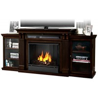 Real Flame Calie Entertainment Center Ventless Gel Fireplace - Dark Walnut - B00HRK593E