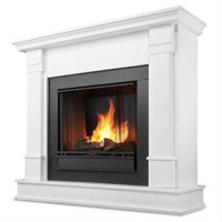 Real Flame Silverton Gel Fireplace in White Finish - B0091JIAR6