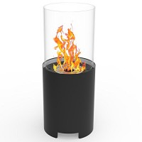 Regal Flame Capelli Ventless Indoor Outdoor Fire Pit Tabletop Portable Fire Bowl Pot Bio Ethanol Fireplace in Black - Realistic Clean Burning like Gel Fireplaces  or Propane Firepits - B06XDYQMTY
