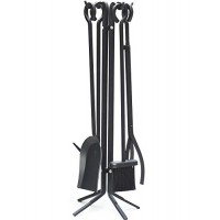 Gotobuy Modern 5-Piece Wrought Iron Toolset Black Durable Fireplace Tool - B0171C6DD2