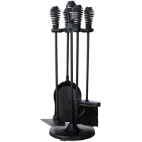UniFlame 5-Piece Black Stoveset with Spring Handles - B00DGLV0A4