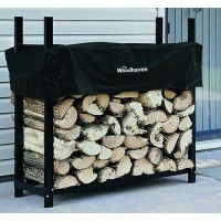 "48"" Heavy-Duty Woodhaven Firewood Rack with Cover - B0009JKIZO"