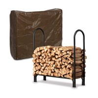 Medium USA-Made Steel Log Rack And Vinyl Cover Set - B00NY6R1A4