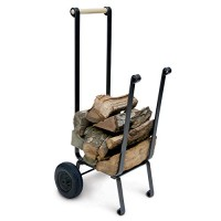 Pilgrim Home and Hearth 18557 Big Wheel Wood Cart - B002XFM76K