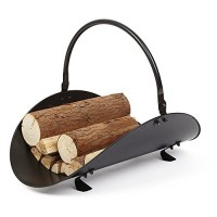 Rocky Mountain Goods Firewood Basket Holder Indoor - Decorative finish metal log holder - Fireplace wood rack is ideal size for indoor use - Assembly wrench included - For modern or classic home - B074SVZKY4