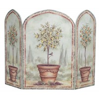 Stupell Home Décor Orange And Lemon Trees 3-Panel Decorative Fireplace Screen  43 x 0.5 x 31  Proudly Made in USA - B000UQ3M5O