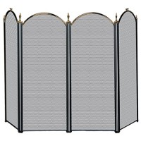 Uniflame 4 Fold Antique Brass Screen - B0006860GY