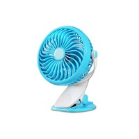BFQY Fan Cooling Mini Rechargeable Clip Desktop Desktop Small Fan Student Office Dorm Bed Silence (Color : Sky Blue) - B07GTW93JD