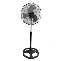 "Vie Air 18"" Industrial Heavy Duty Pedestal Powerful and Quiet Oscillating Metal Stand Fan - B01LVZVIX6"