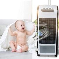 Creazy 4 in 1 Air Cooler Black With Remote Control Fan Humidifier and Air Freshener - B07G9C51D9
