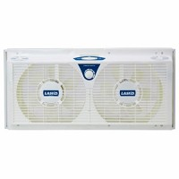 "Lasko 8"" REVERSIBLE Twin Window Fan with All NEW Comfort Watch Thermostat Included - B01J49JOQI"