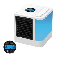 LayOPO Personal Air Conditioner Fan  5-in-1 Air Personal Space Cooler Mini Air Purifier Humidifier with 7 Colors LED Lights 5 Speeds Home Office Desk Device Portable Air Conditioner LCD Display - B07FTHGLM6