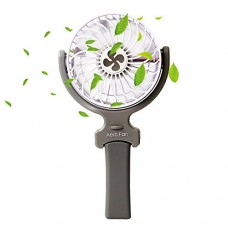 Mihoon Mini Handheld Fan  Portable 360 Degree Adjustable 3 Speeds Foldable Cooling Fan with USB Rechargeable 2000mAh Battery for Home&Office&Travel&Camping Use (White) - B07BGY42RC