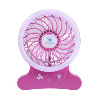 Portable Fans Battery Operated 2500 mAh Ryham Rechargable Cooling Fan with Flash Light for Table  Office  Camping  Dorm  Baby Stroller(Pink) - B06XTCC8Q9