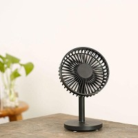 Teepao Noiseless Portable Table Fan USB Rechargeable Desktop Fan Mini Electric Personal Quiet Fan with 7 Blades 3 Speed High Velocity for Summer Office Home Traveling Camping BBQ(Black) - B07D5TT52N